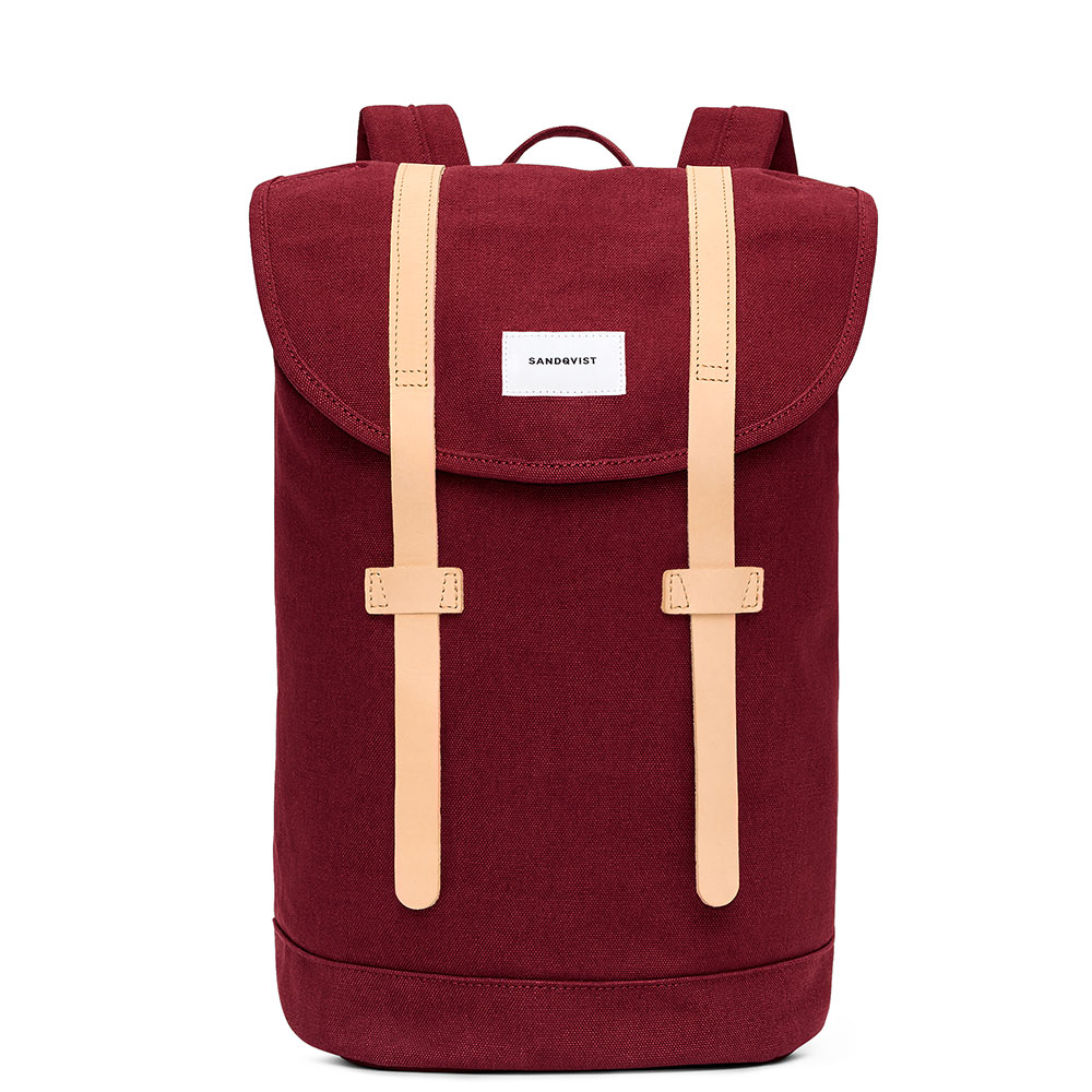 Sandqvist Stig Backpack Burgundy/Natural
