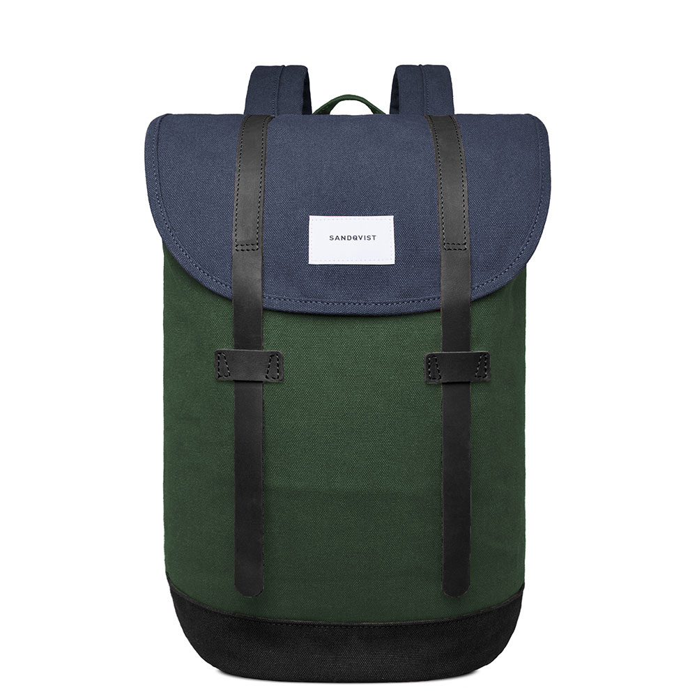 Sandqvist Stig Backpack Multi Blue Forest/Black