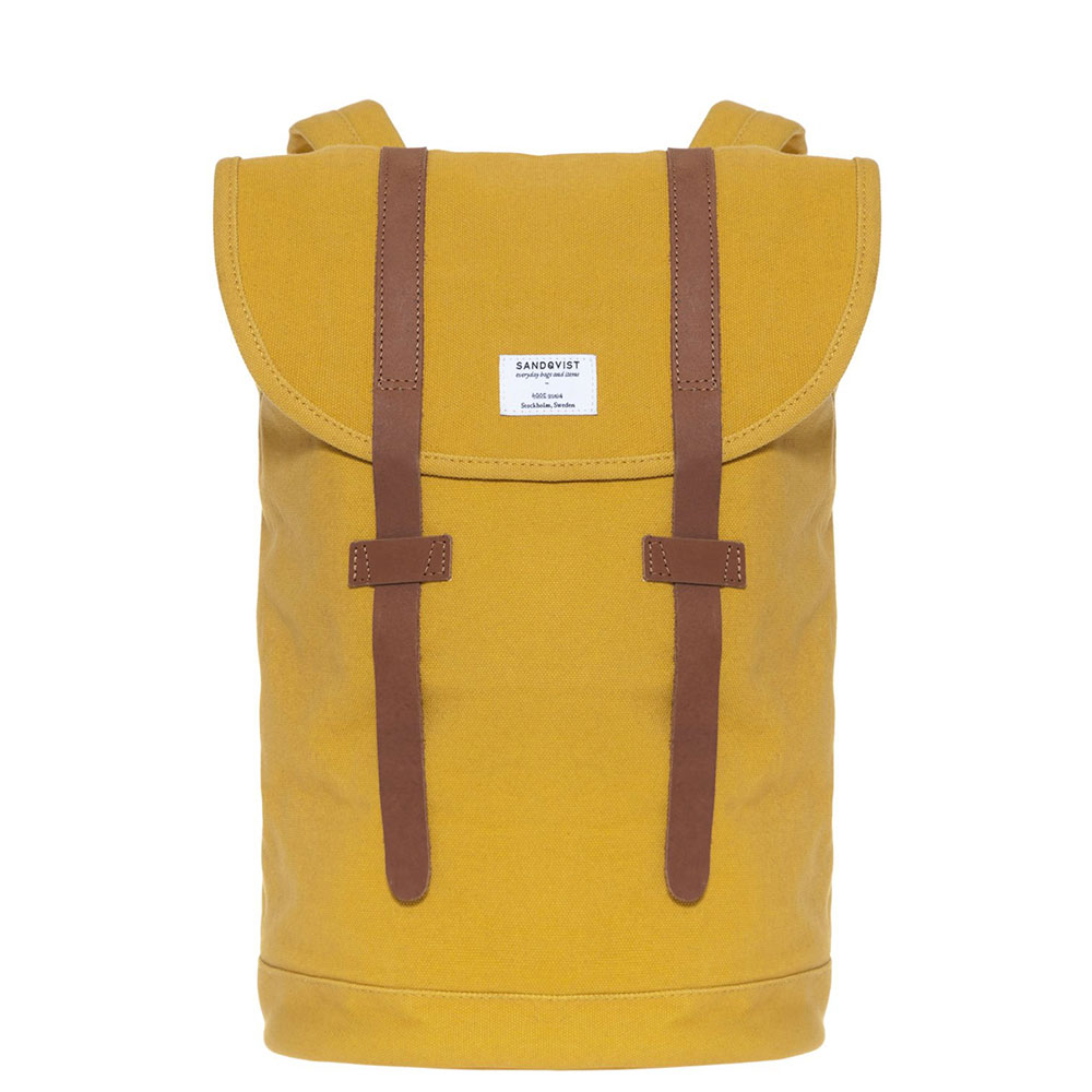 Sandqvist Stig Backpack Yellow/Cognac