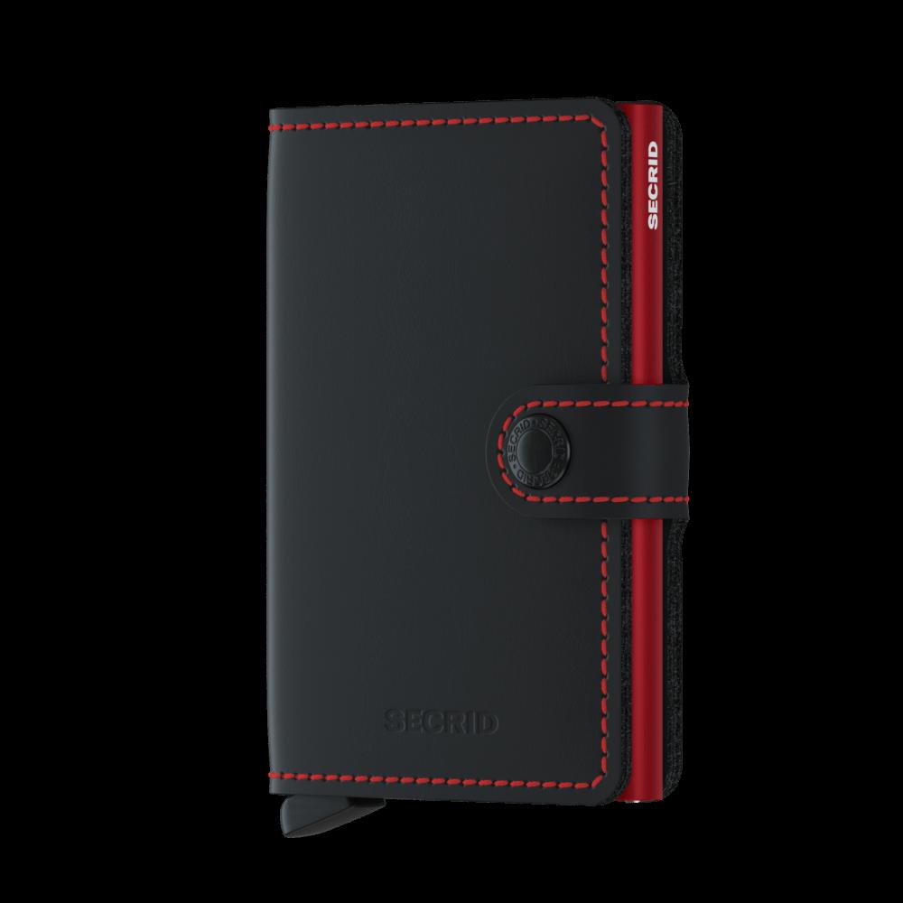 Secrid Mini Wallet Portemonnee Matte Black - Red