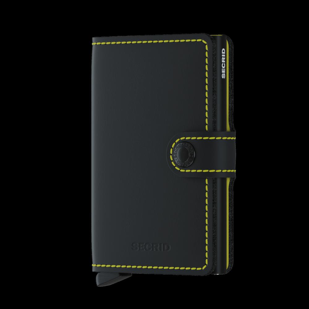 Secrid Mini Wallet Portemonnee Matte Black - Yellow