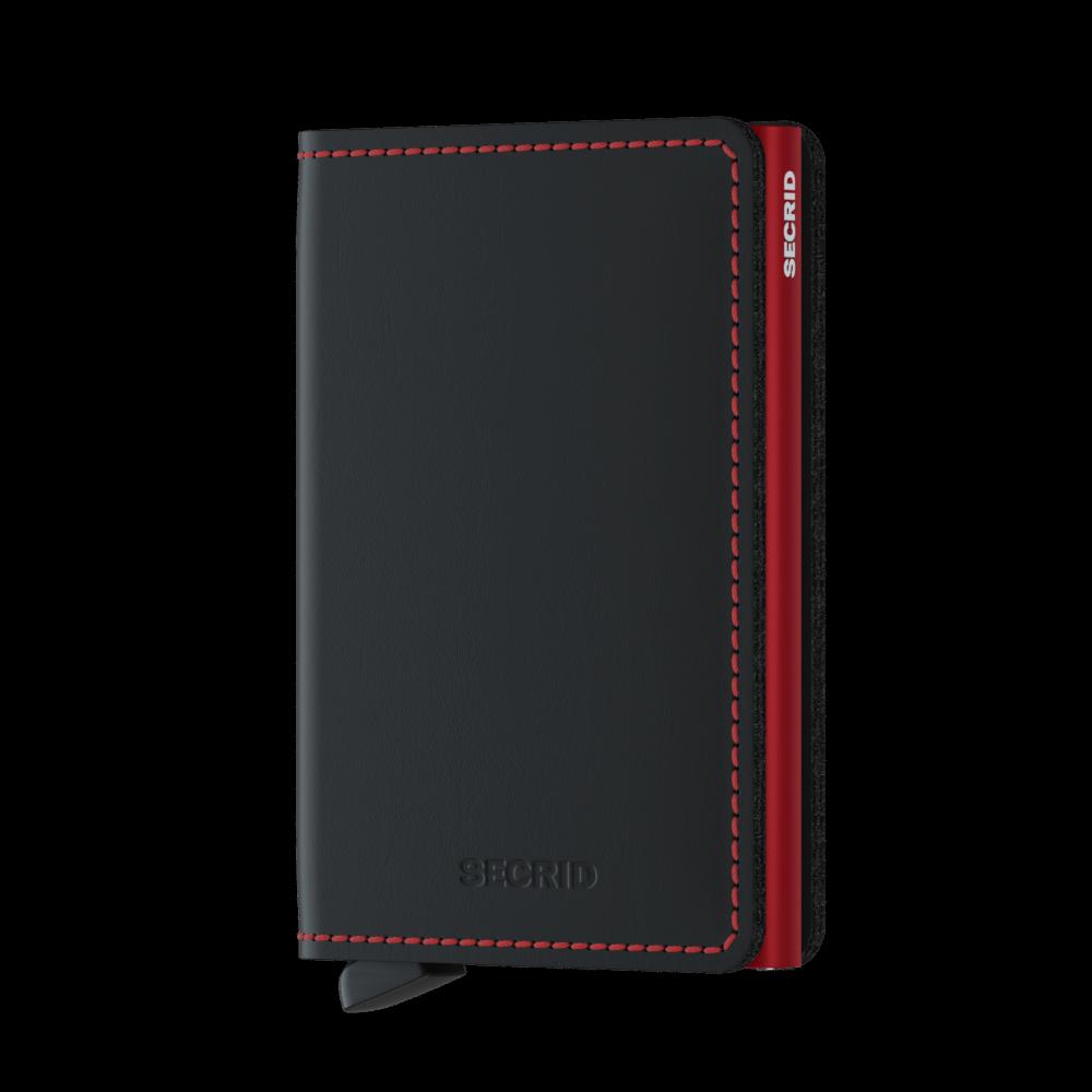 Secrid Slim Wallet Portemonnee Matte Black/ Red