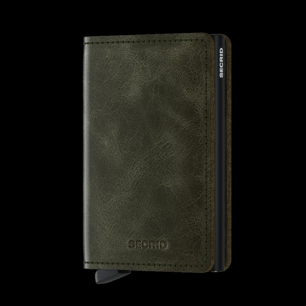Secrid Slim Wallet Portemonnee Vintage Olive/ Black
