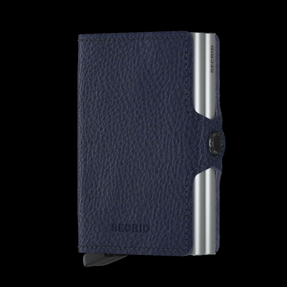 Secrid Twin Wallet Portemonnee Veg Navy - Silver