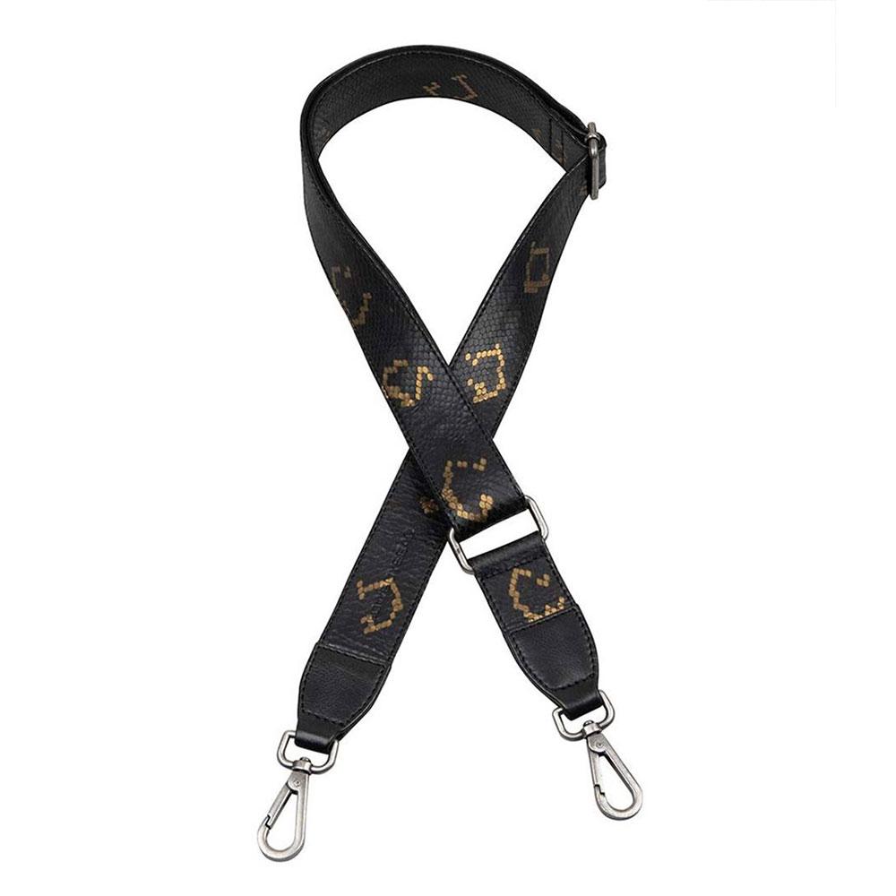Cowboysbag X Bobbie Bodt Shoulder Strap Emerald Long Snake Black And Gold