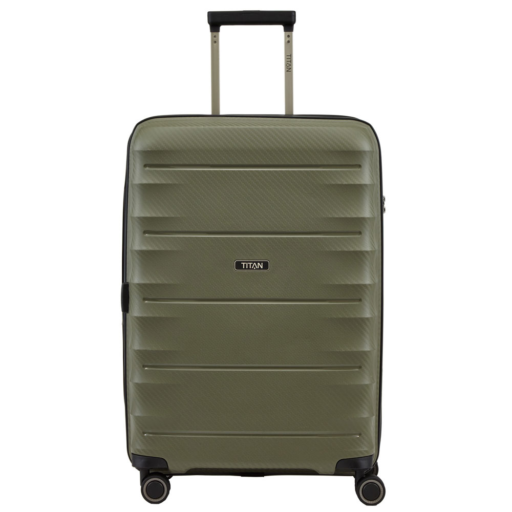 Titan Highlight 4 Wheel Trolley M Expandable Khaki