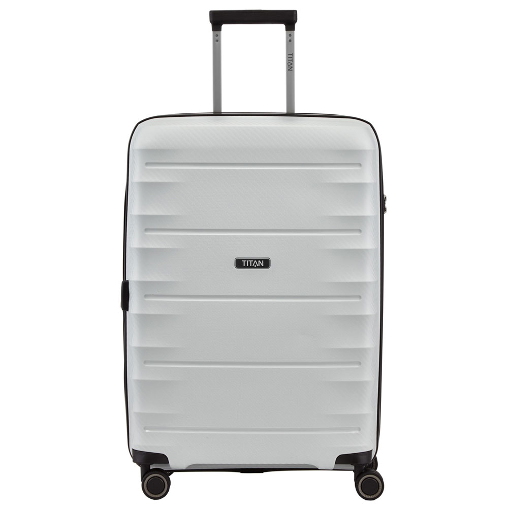 Titan Highlight 4 Wheel Trolley M Expandable Off White