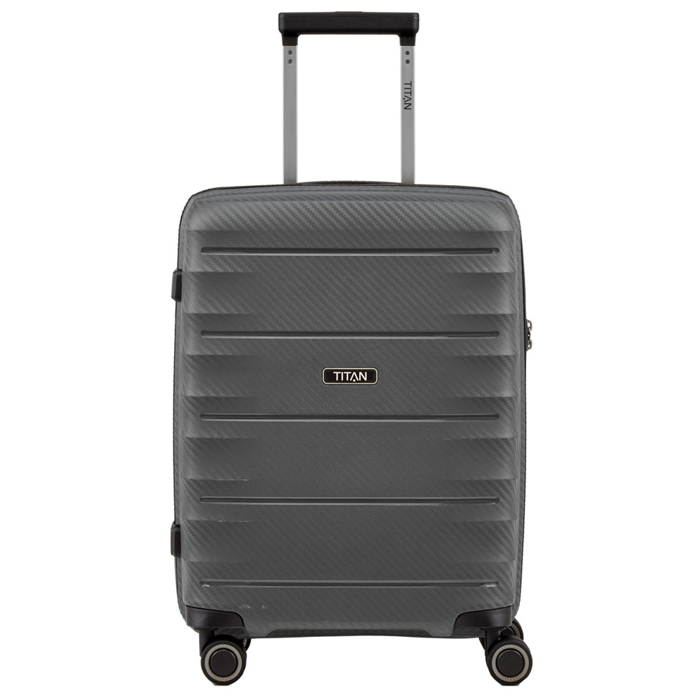Titan Highlight 4 Wheel Handbagage Trolley S Antracite