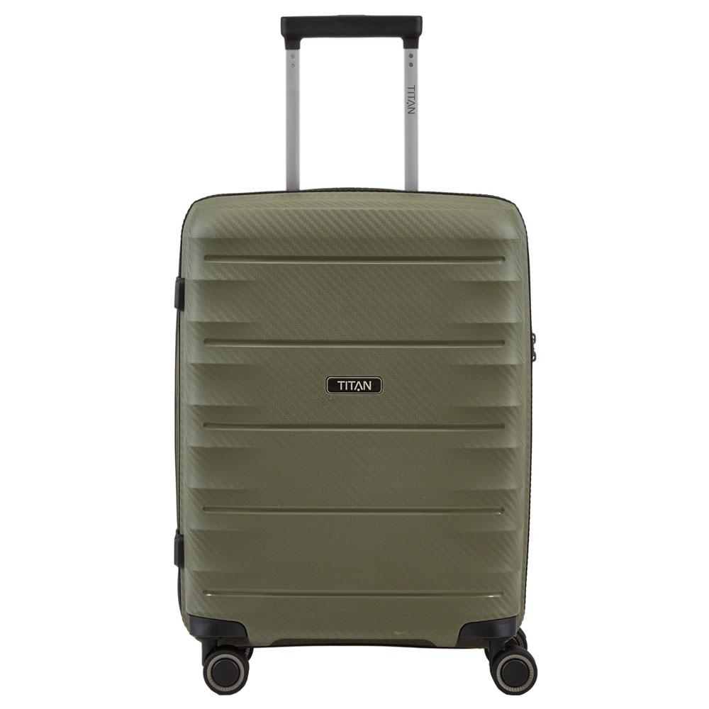 Titan Highlight 4 Wheel Handbagage Trolley S Khaki