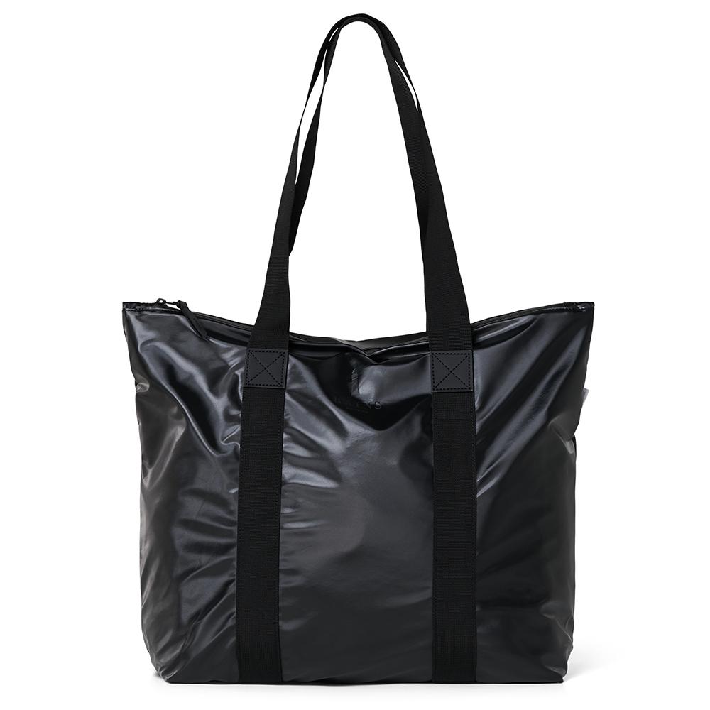 Rains Original Tote Bag Rush Schoudertas Shiny Black