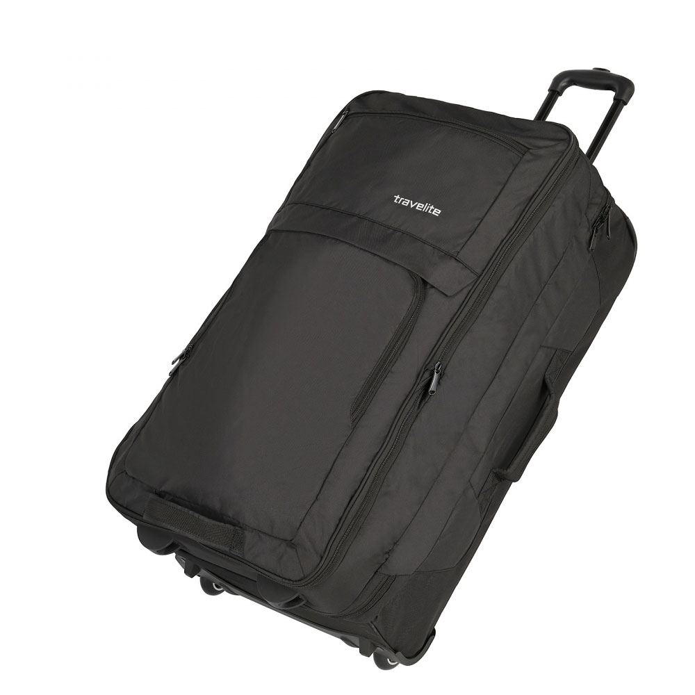 Travelite Basics Doubledecker Wheeled Duffle Black
