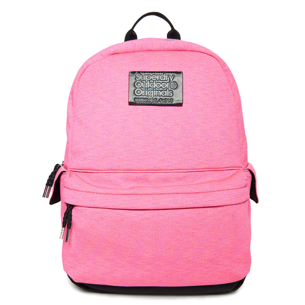 Superdry Montana Jersey Stripe Backpack Pink Multi Stripe