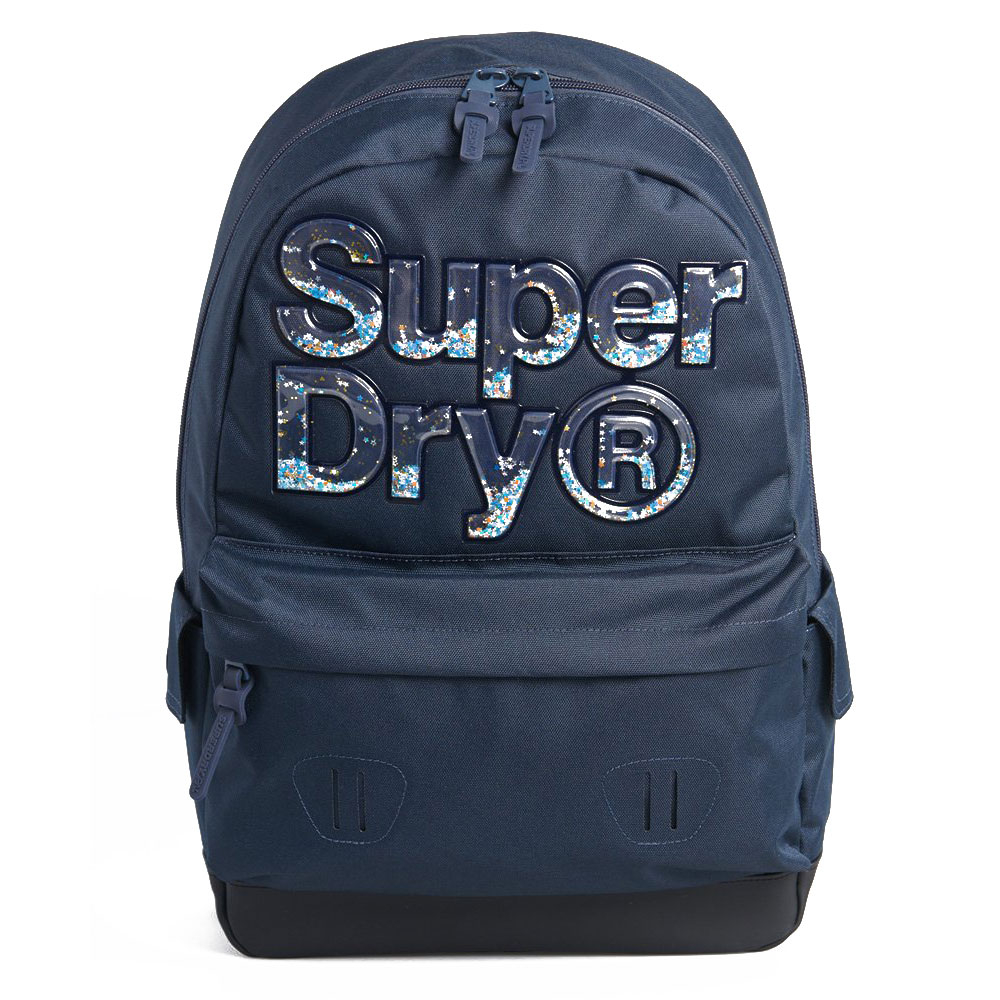 Superdry Montana Stripe Aqua Star Backpack Dark Navy