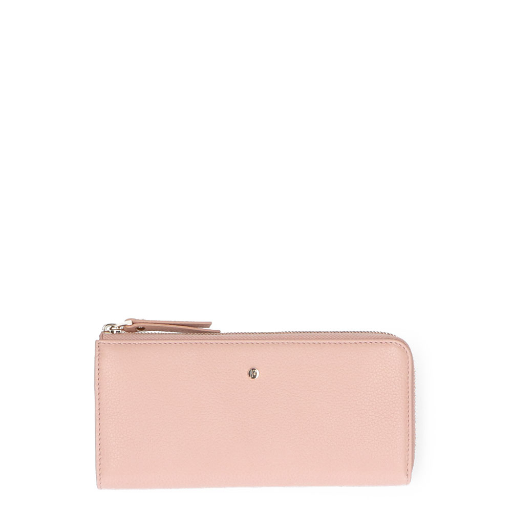 FMME Wallet Large Grain Pink Latte