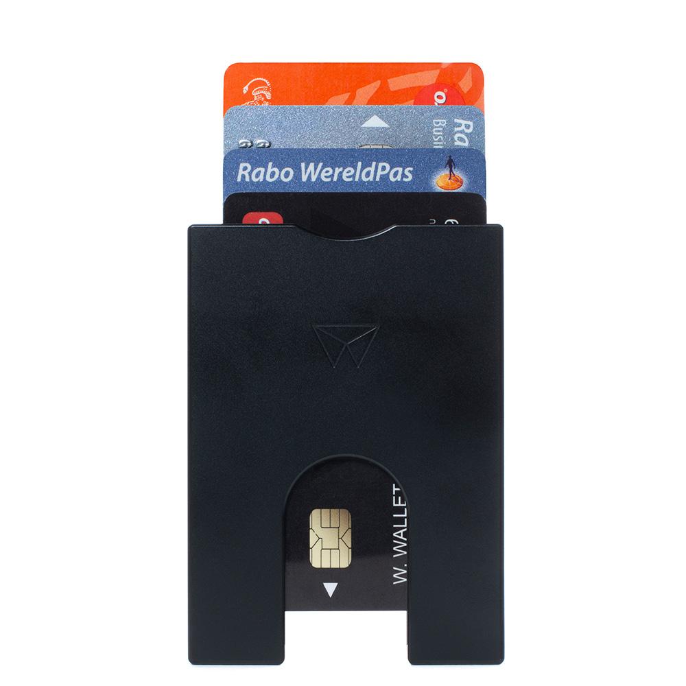 Walter Wallet Aluminium Slim 4 Cards Black