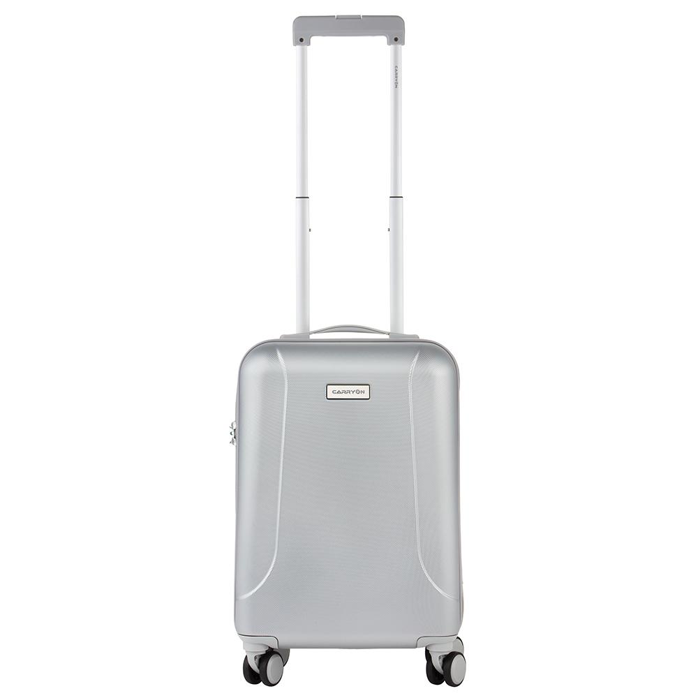 CarryOn Skyhopper Handbagage Koffer 55 Zilver/Grijs