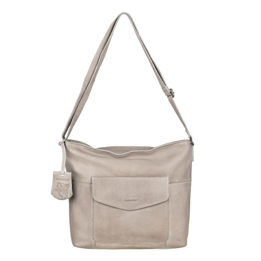 Burkely Just Jackie Crossover Hobo Light Grey