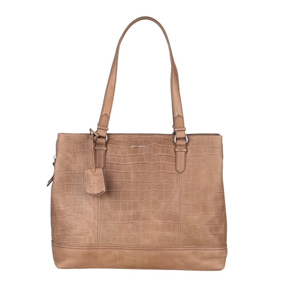 Burkely Croco Caia Handbag M 13.3 Taupe
