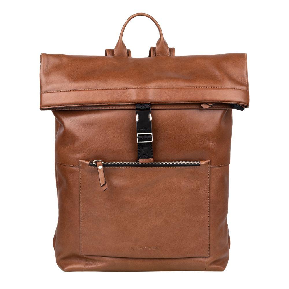 Burkely Suburb Seth Backpack Rolltop 15.6 Cognac