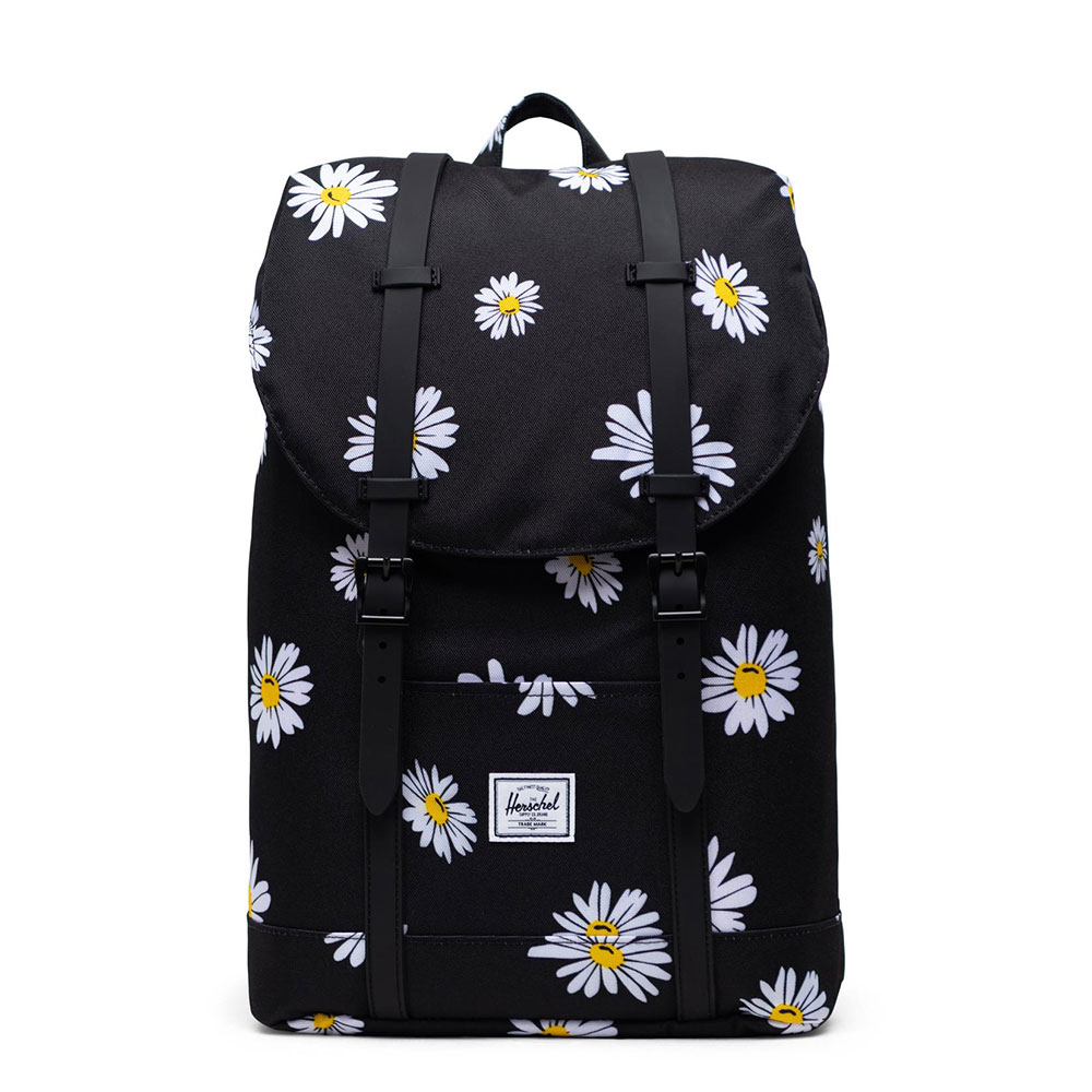 Herschel Retreat Mid Volume Rugzak Daisy Black