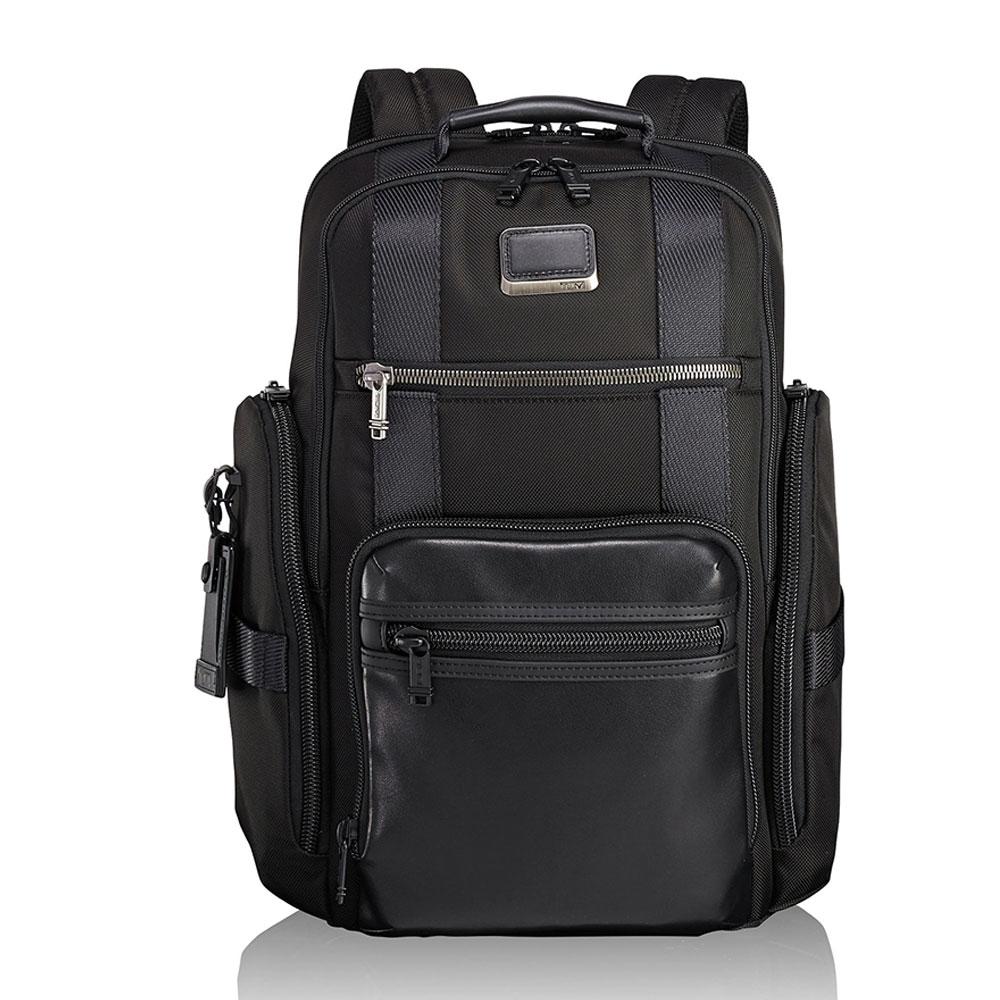 Tumi Alpha Bravo Sheppard Deluxe Brief Backpack Black