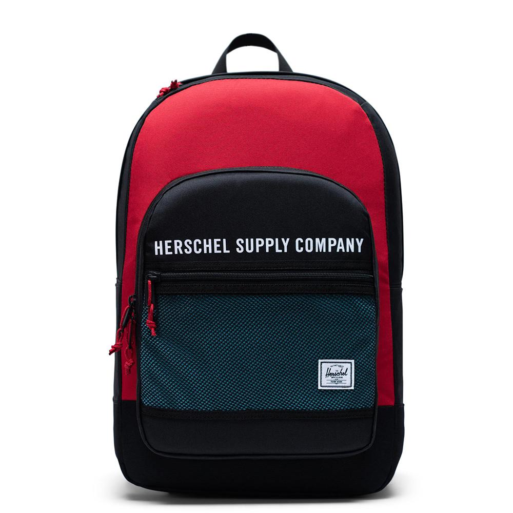 Herschel Kaine Rugzak Black Red Bachelor Button