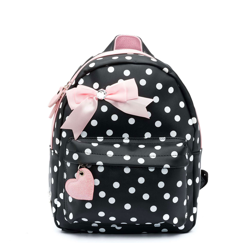 Zebra Rugzak: Zebra Trends Girls Rugzak S Dots Black