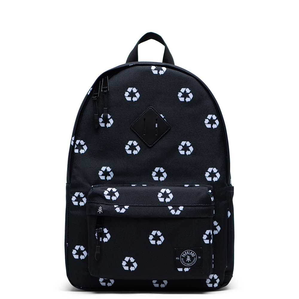 Parkland Bayside Kids Backpack Recycle Black New