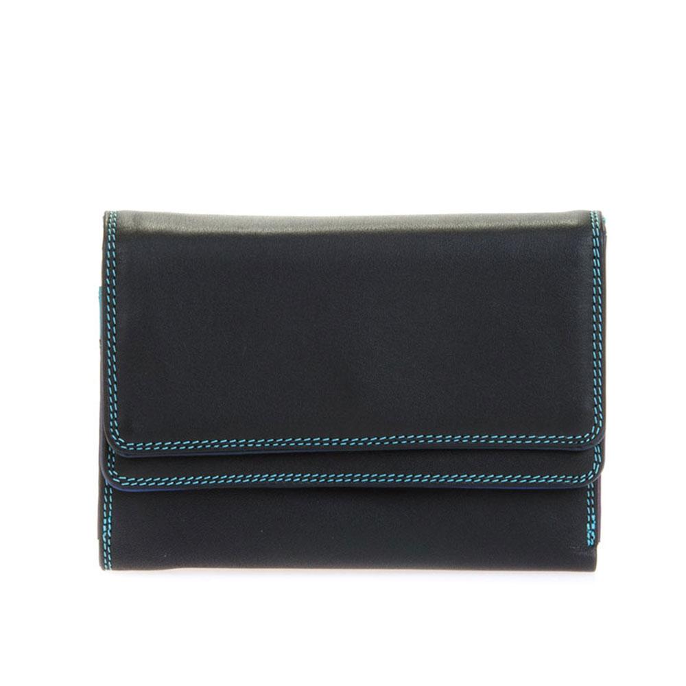 Mywalit Double Flap Purse Portemonnee Black/ Pace - Dames portemonnees