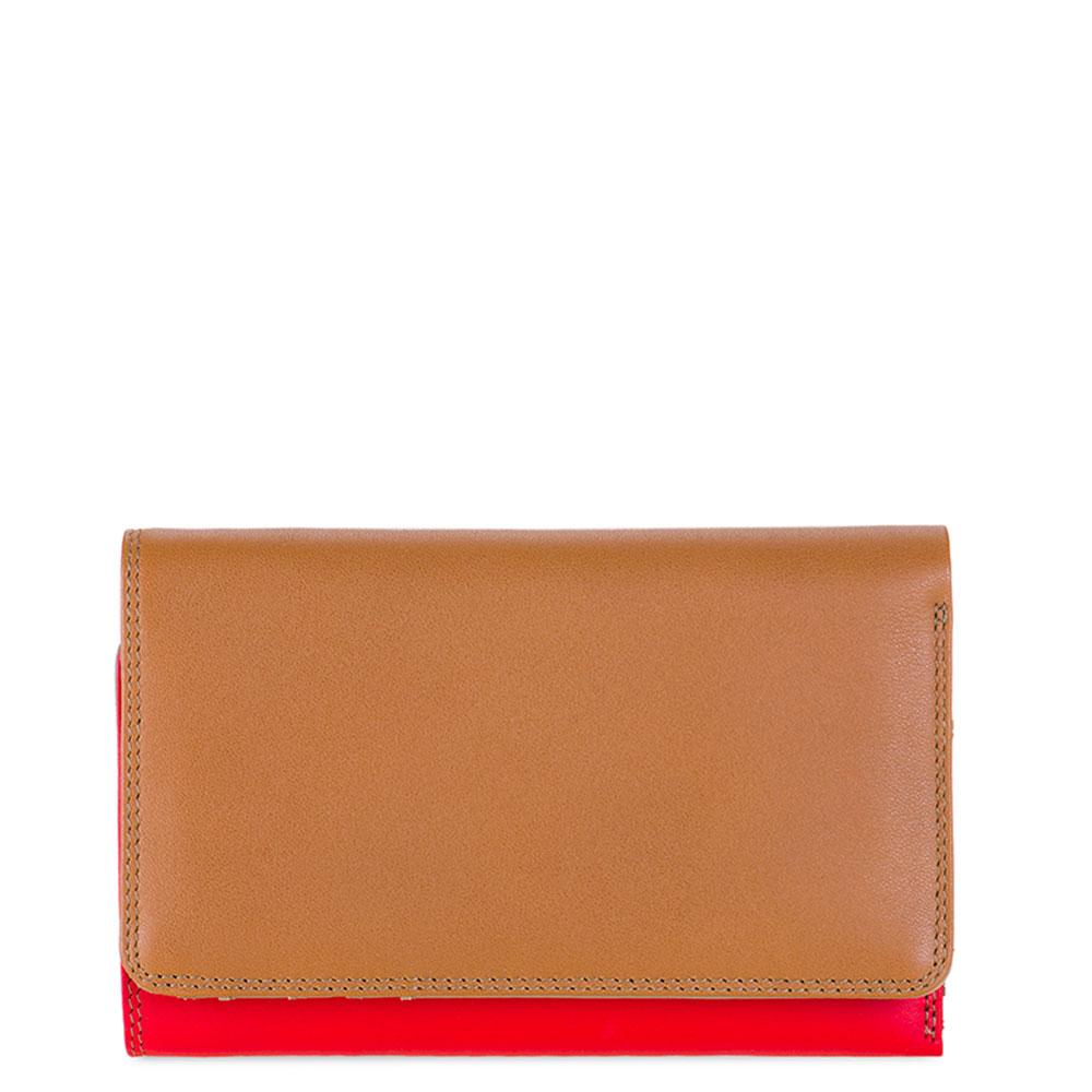 Mywalit Medium Tri-Fold Wallet Outer Zip Portemonnee Caramel