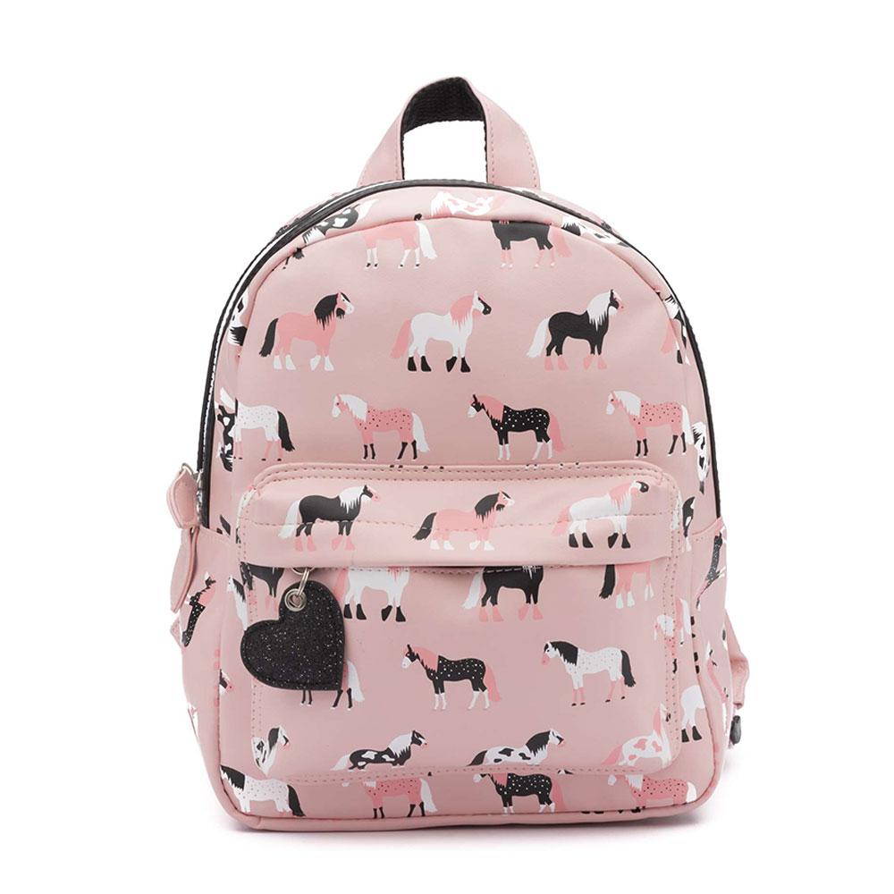 Zebra Trends Kinder Rugzak S Horses Pink