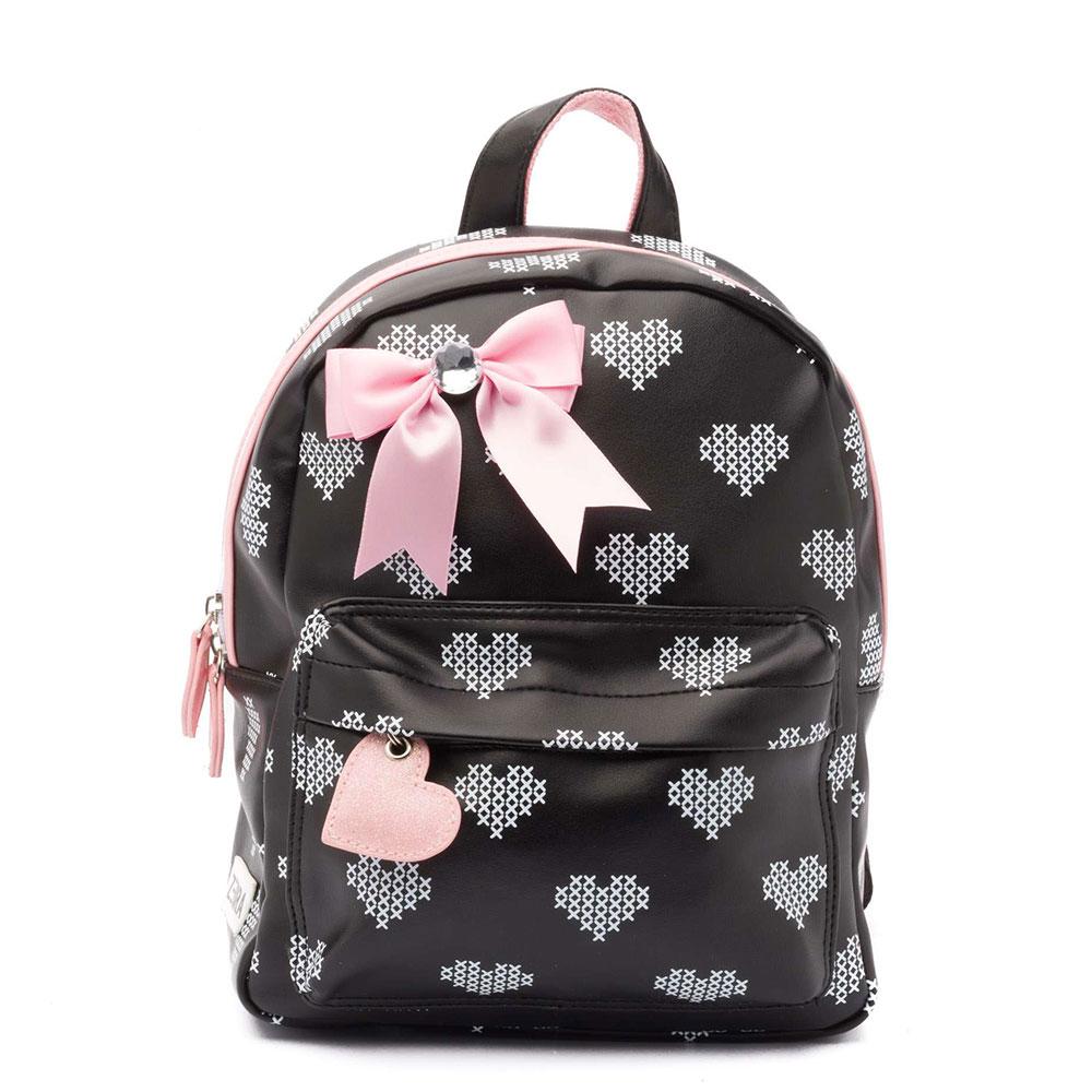 dd4cb179120 Zebra Trends Kinder Rugzak S Crossed Hearts Black/ Pink