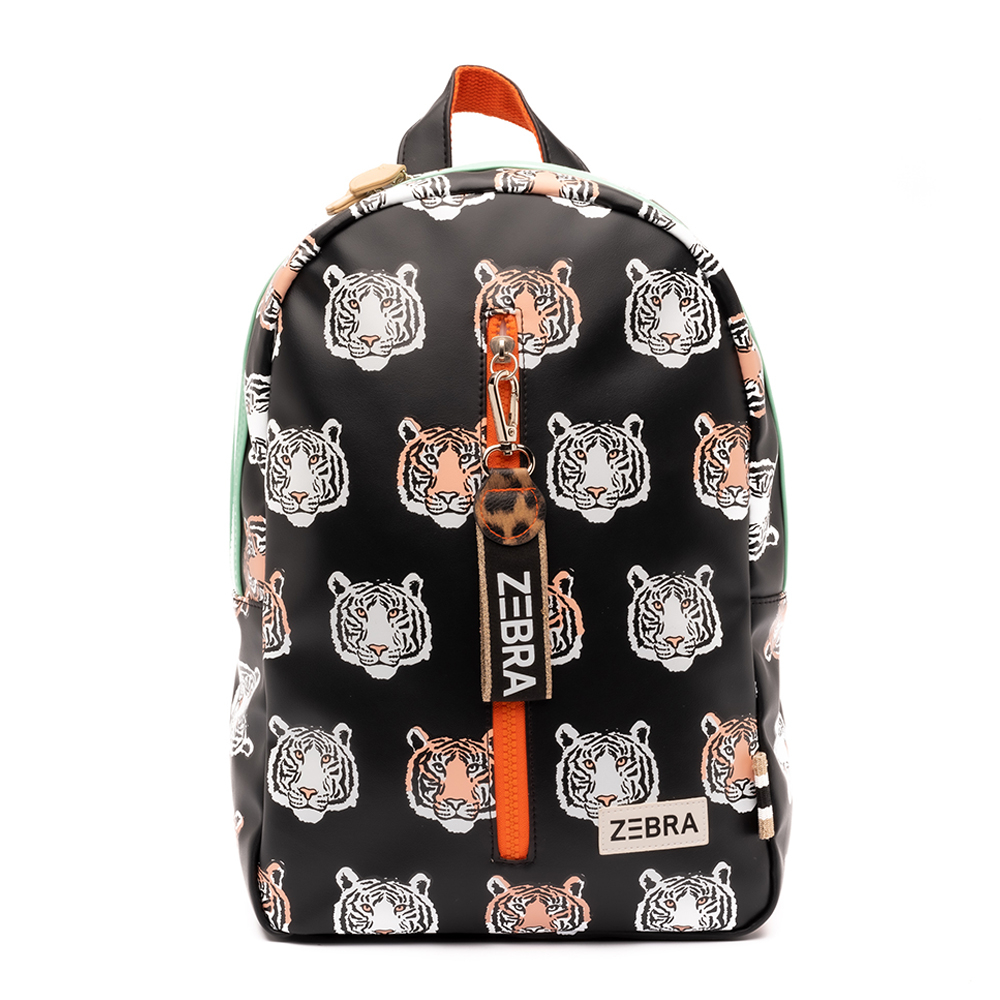 Zebra Trends Kinder Rugzak M Tiger Black