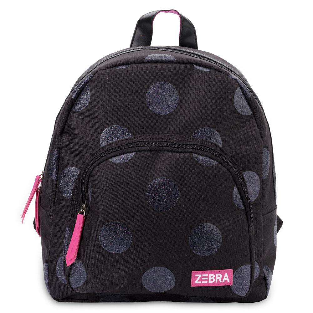 6d46fae872a Zebra Trends Girls Rugzak Glitter Dots Black