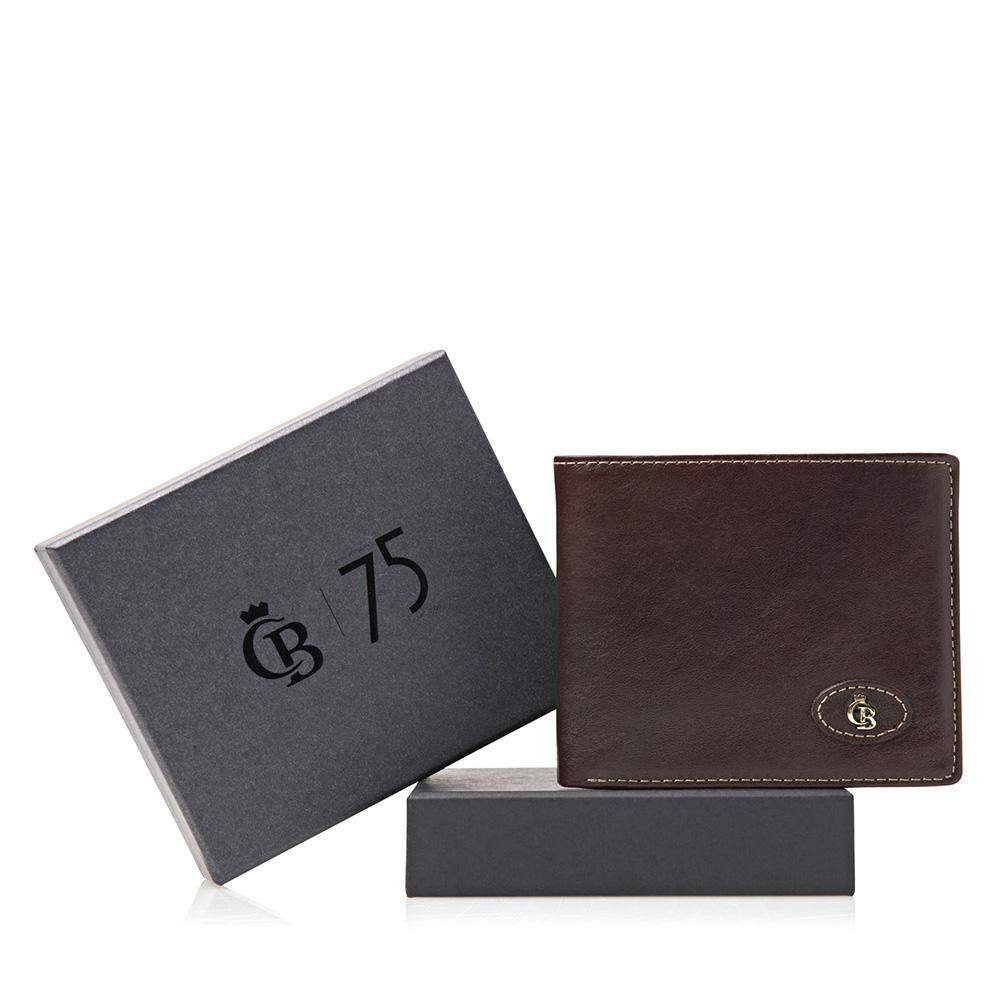 Castelijn & Beerens Giftbox Billfold mocca Heren portemonnee