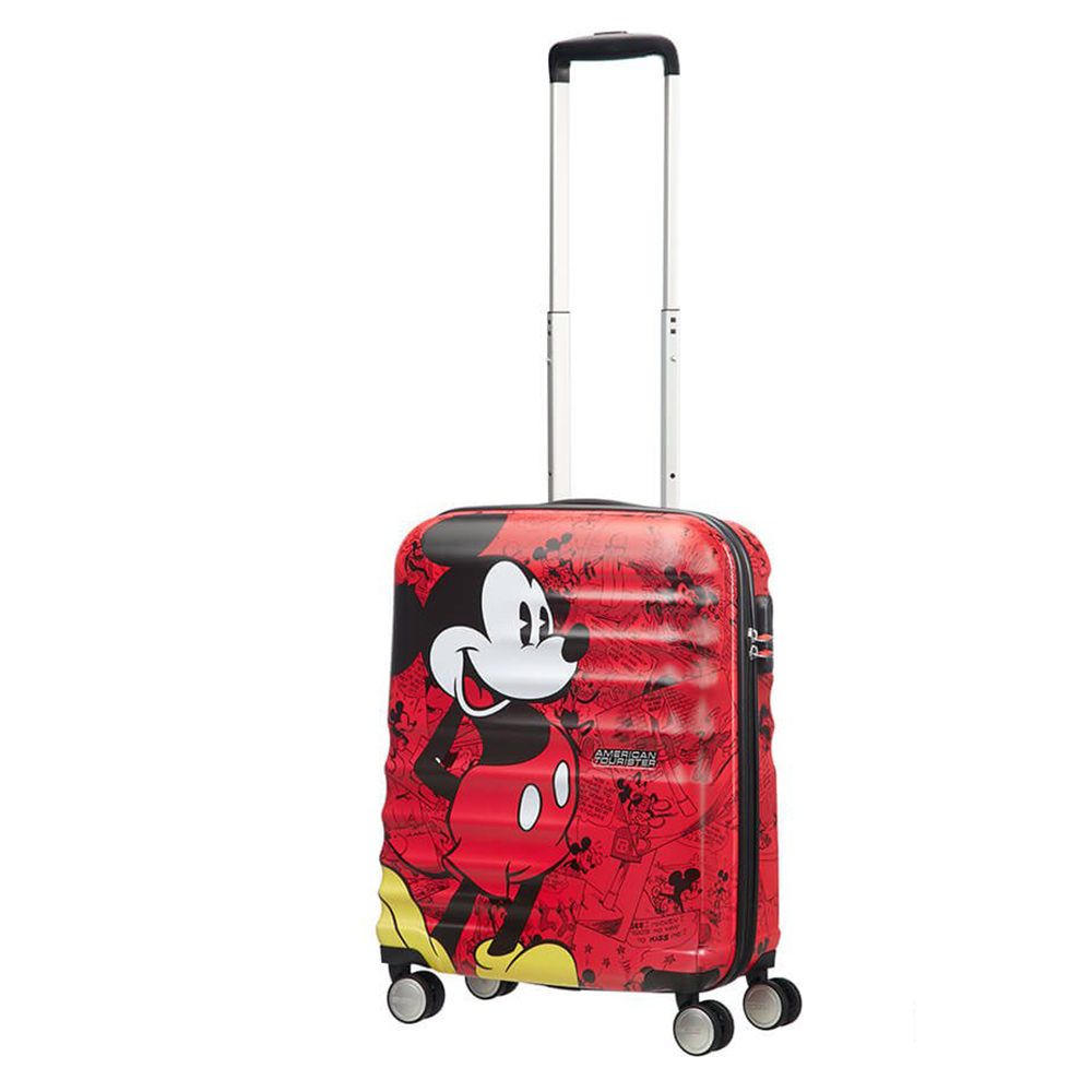 American Tourister Wavebreaker Disney Spinner 55 Mickey Comics Red