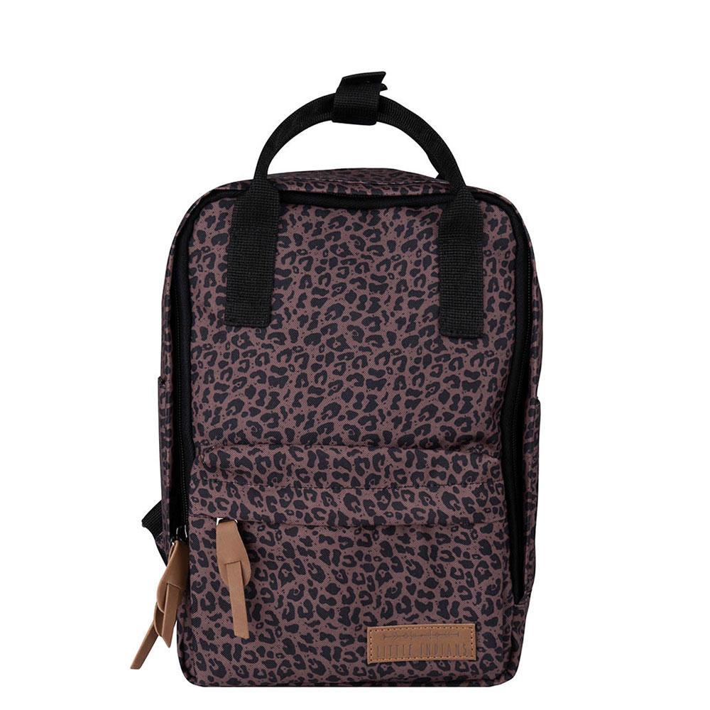 Little Indians Kids Leo Backpack Leopard Brown