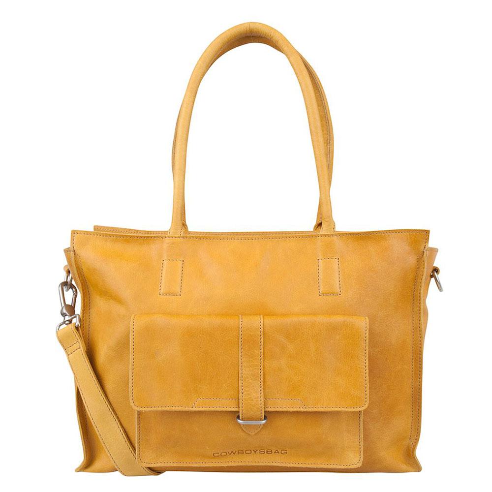 Cowboysbag Laptop Bag Edgemore 15.6 Schoudertas Amber