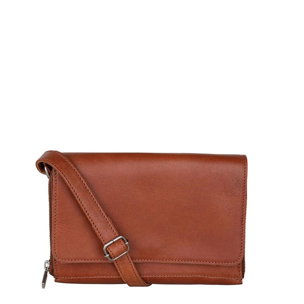 Cowboysbag Clean Bag Glen Schoudertas Cognac