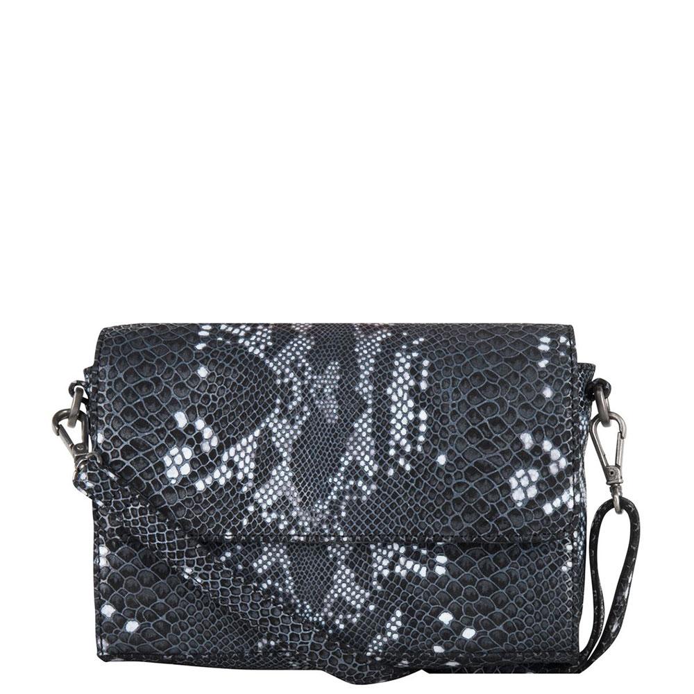 Cowboysbag X Bobbie Bodt Bag Onyx Schoudertas Snake Black And White