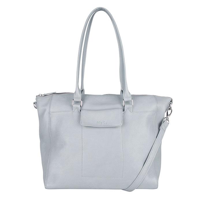 MyK Bag Carlyle Schoudertas Silver Grey