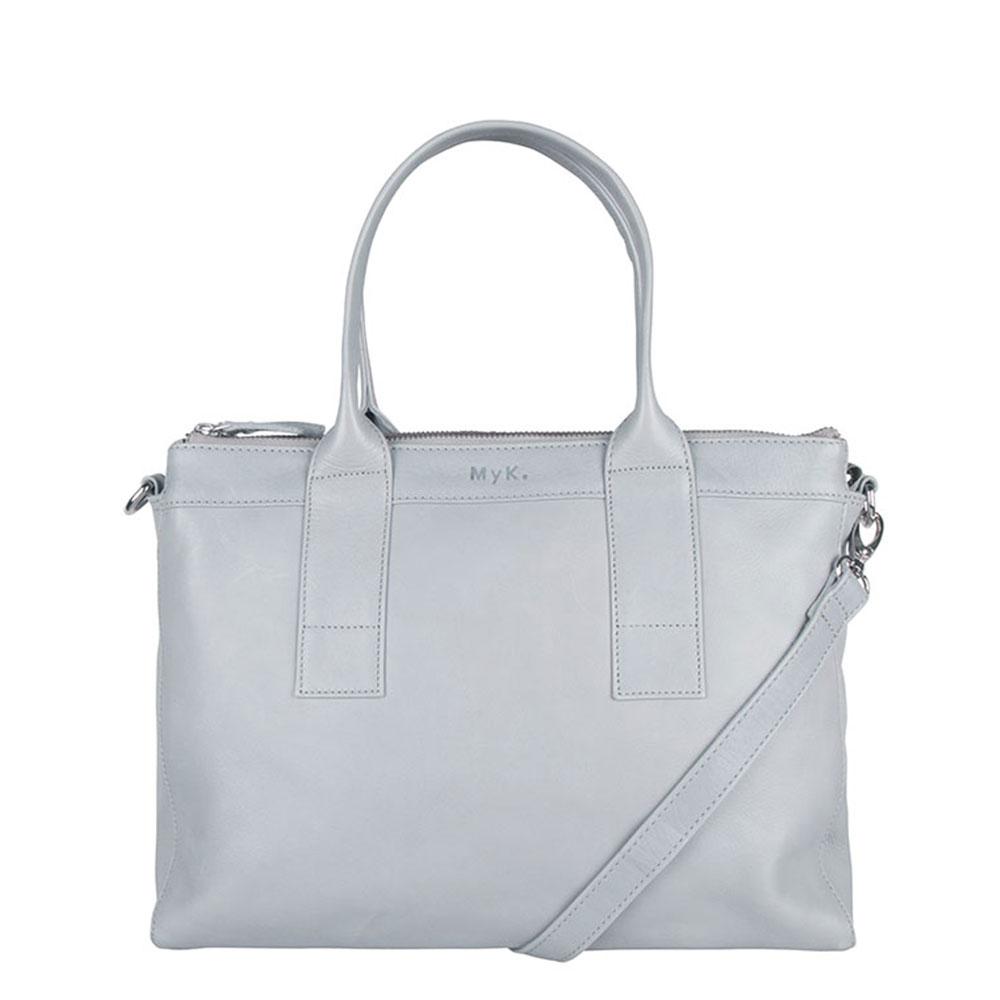 MyK Bag Orchid Schoudertas Silver Grey