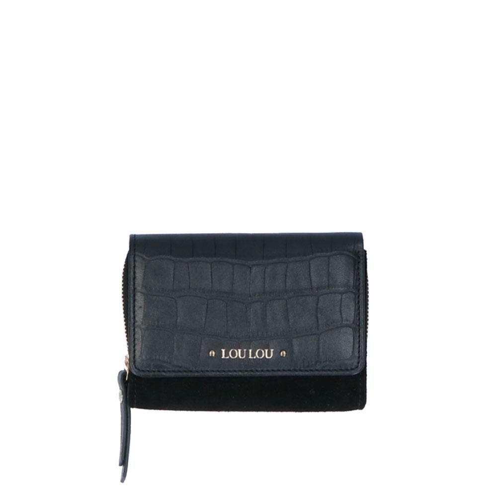LouLou Essentials XS Classy croco black Dames portemonnee