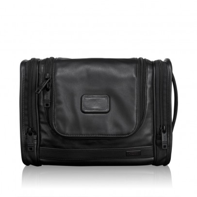 Tumi Alpha Leather Hanging Travel Kit Black