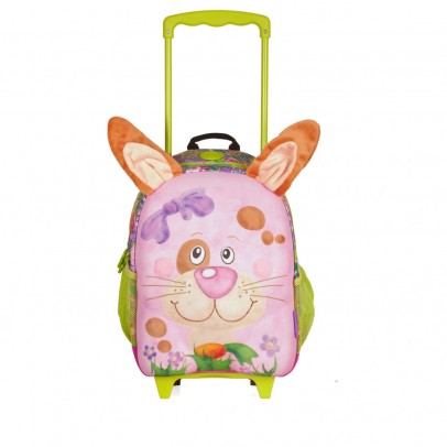 Pick Pack Fun Kinder Trolley Pink Frog