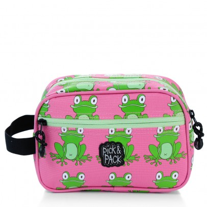 Pick Pack Fun Kinder Toilettas Frog Pattern Pink