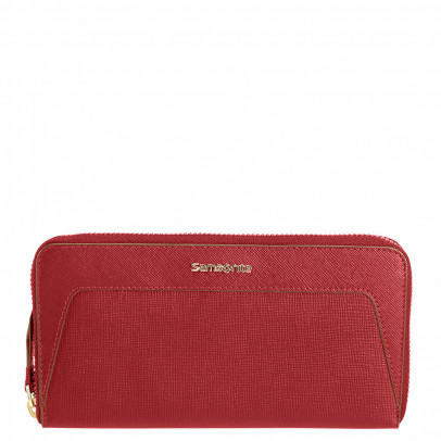Samsonite Lady Saffiano II SLG Lady Zip Around L Rubin Red