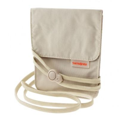 Samsonite Travel Accessoires Triple Pocket Nek Pouch Beige