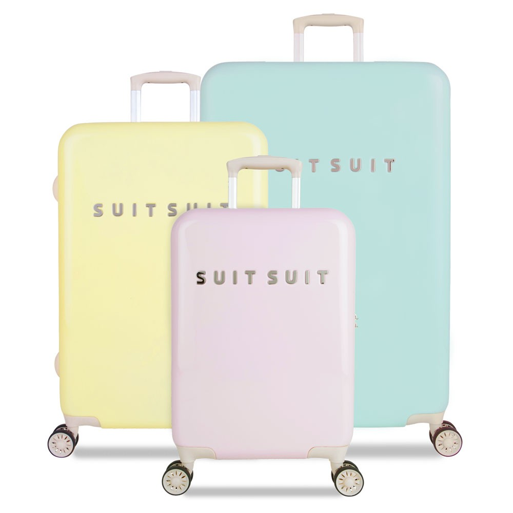 suitsuit fabulous fifties handbagage spinner 55 pink dust. Black Bedroom Furniture Sets. Home Design Ideas