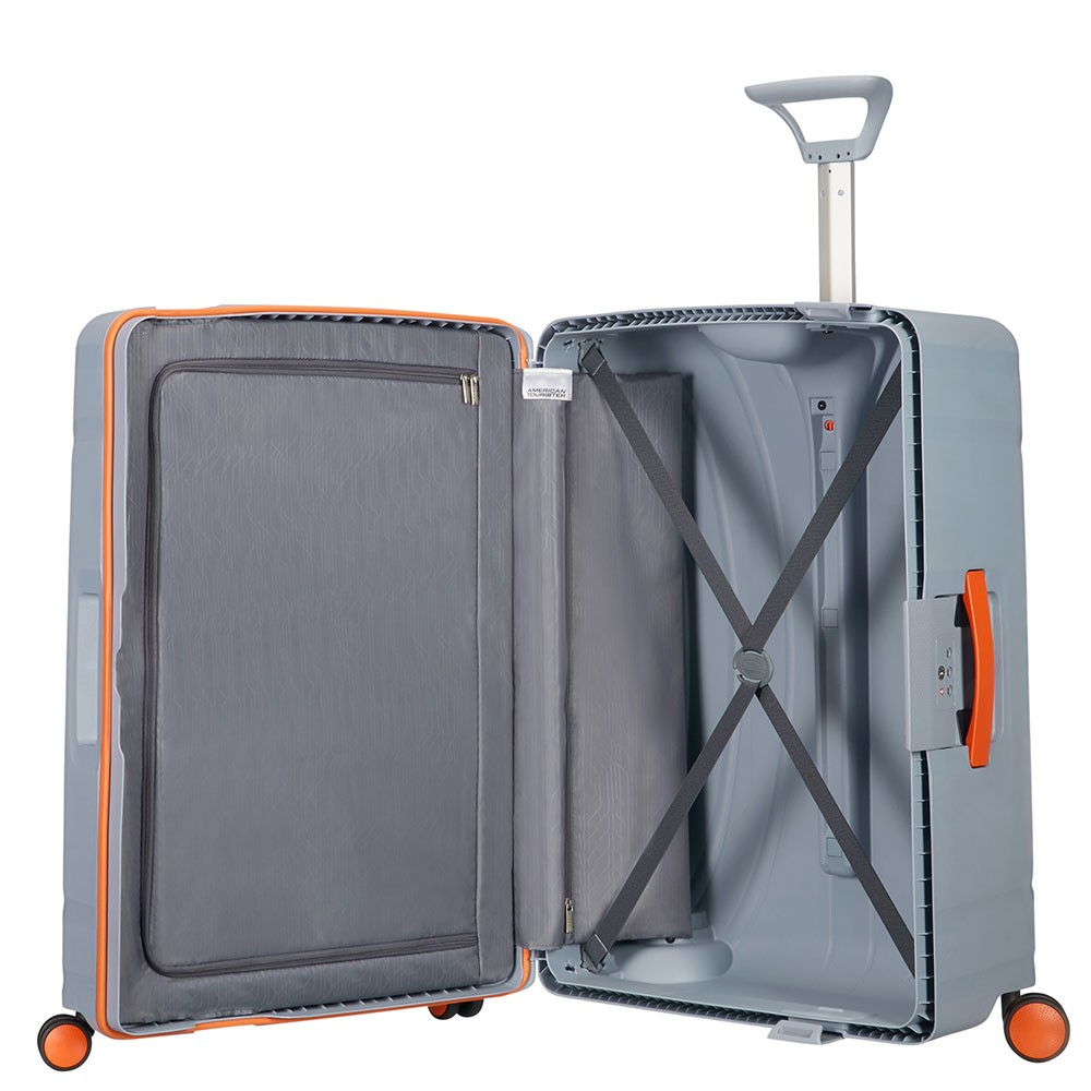 American Tourister Lock N Roll Spinner 75 Volt Grey